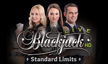 Live Blackjack Standard Limits